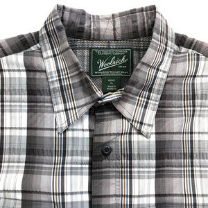 Woolrich Outdoor Mens XL Vented Plaid Camp Shirt